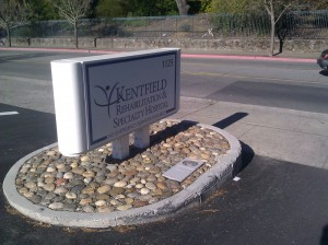 Kentfield Rehabilitation and Specialty Hospital sign outside