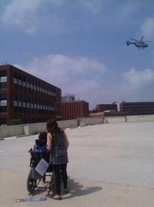 KimWatchingHelicopter